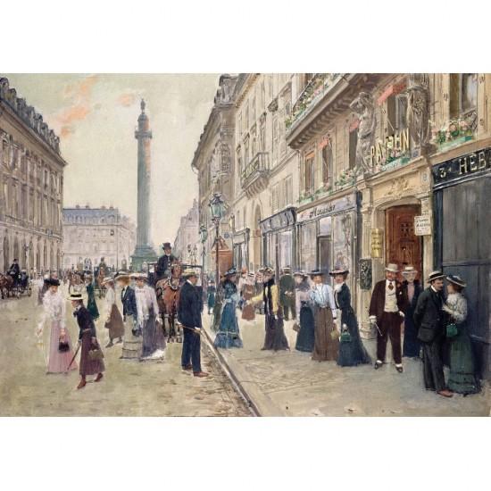 Puzzle d'art en bois 900 pièces Michèle Wilson : Jean Béraud : Rue de la Paix - PMW-A958-900