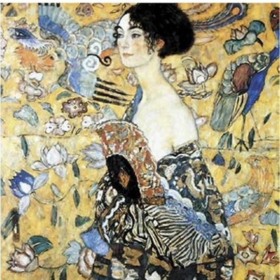 Puzzle d'art en bois 900 pièces Michèle Wilson - Klimt : La dame à l`éventail - pmw-A515-900