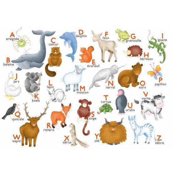 Puzzle en bois : Art maxi 12 pièces : Hannah Weeks : L'alphabet des animaux - PMW-W306-12
