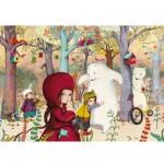 Puzzle en bois : Art maxi 24 pièces : Sophie Lebot : Rencontre en forêt