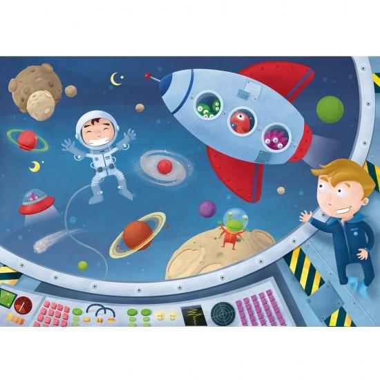 Puzzle en bois : Art maxi 50 pièces : Les astronautes - PMW-W303-50
