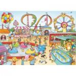 Puzzle en bois Art Maxi 100 pièces : Cacouault : Parc d'attraction