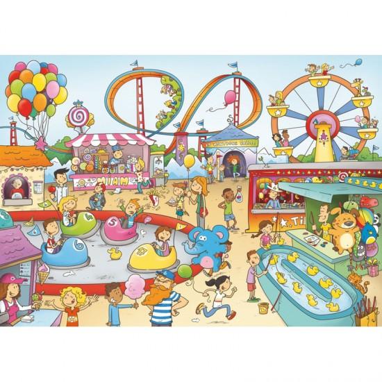 Puzzle en bois Art Maxi 100 pièces : Cacouault : Parc d'attraction - PMW-W147-100