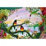 Puzzle en bois Art Maxi 100 pièces : Thomas : La jungle