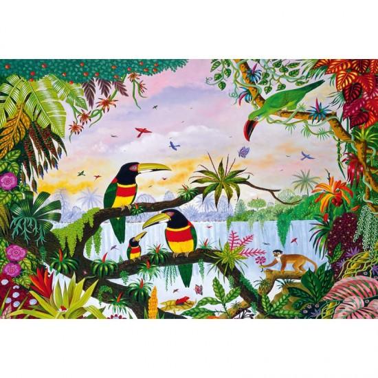 Puzzle en bois Art Maxi 100 pièces : Thomas : La jungle - PMW-W162-100