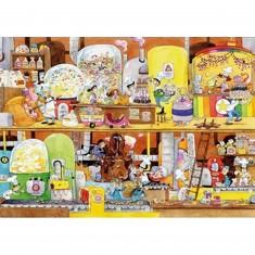 Puzzle en bois - Art maxi 100 pièces - Cacouault : L'Usine de bonbons