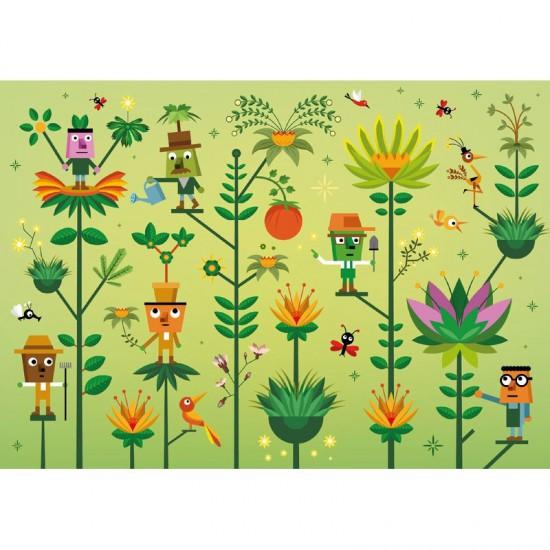 Puzzle en bois Art Maxi 12 pièces : Guillaumit : Le monde végétal - PMW-W302-12