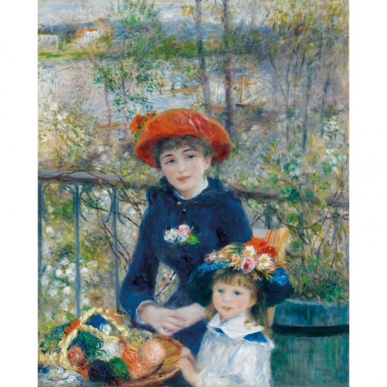 Puzzle en bois Art Maxi 12 pièces : Renoir : Deux soeurs - PMW-W164-12