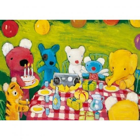 Puzzle en bois - Art maxi 12 pièces - L'anniversaire de Pénélope - PMW-W101-12
