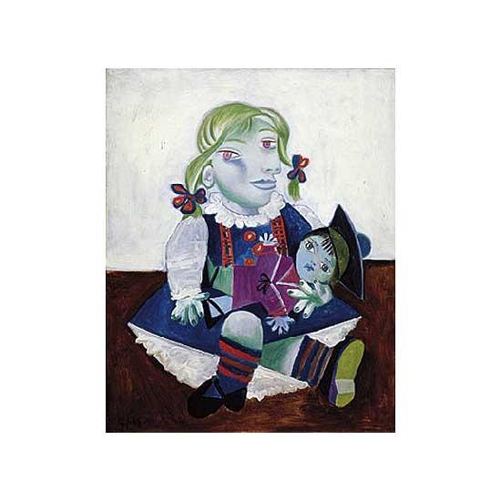 Puzzle en bois - Art maxi 12 pièces - Picasso : Maya à la poupée - PMW-W91-12