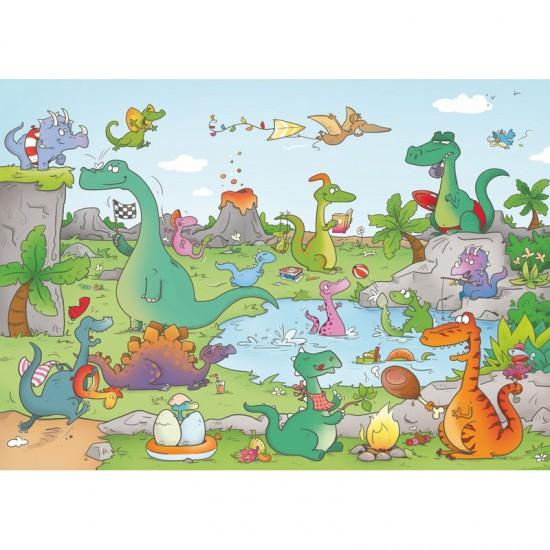 Puzzle en bois Art Maxi 24 pièces : Cacouault : Les dinosaures - PMW-W144-24