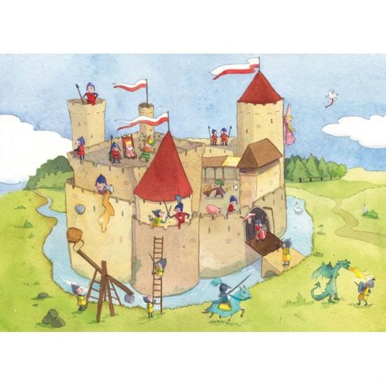 Puzzle en bois Art Maxi 24 pièces : Vanvolsem : Panique au château fort - PMW-W145-24