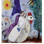 Puzzle en bois - Art maxi 24 pièces - Chagall : Les mariées de la Tour Eiffel