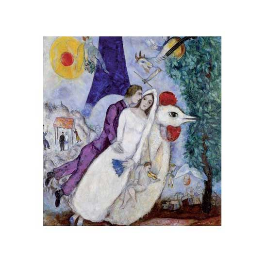 Puzzle en bois - Art maxi 24 pièces - Chagall : Les mariées de la Tour Eiffel - PMW-W109-24