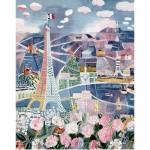 Puzzle en bois - Art maxi  250 pièces - Dufy  : Paris au Printemps