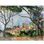 Puzzle en bois Art maxi 50 pièces : Cezanne : Vue sur l'Estaque