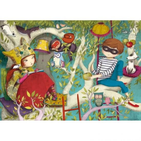 Puzzle en bois Art Maxi 50 pièces : Lebot : La lecture - PMW-W158-50
