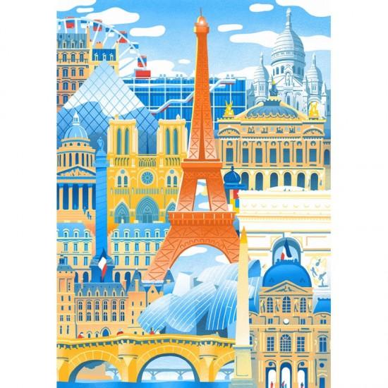 Puzzle en bois Art Maxi 50 pièces : Vincent Mahe : Paris en folie - PMW-W059-50