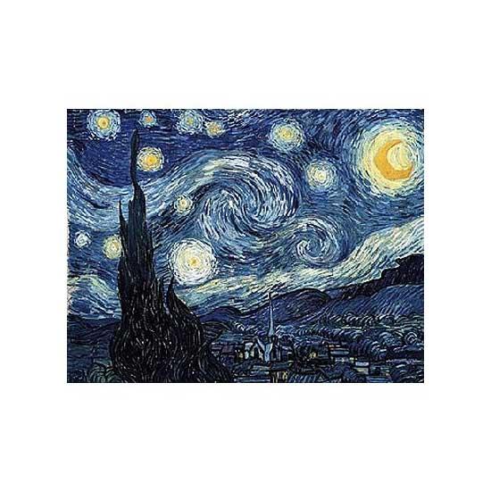 Puzzle en bois - Art maxi 50 pièces - Van Gogh : Nuit étoilée - PMW-W94-50