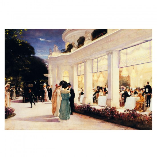 Puzzle d'art en bois 500 pièces Michèle Wilson - Gervex : Une soirée au pré Catelan - PMW-A188-500