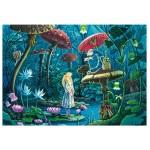 Puzzle d'art en bois 100 pièces Michèle Wilson - Magnin : Alice au Pays des Merveilles