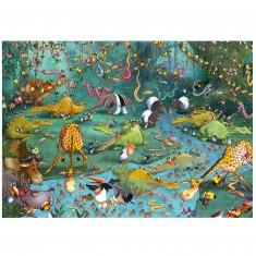 Puzzle d'art en bois 100 pièces Michèle Wilson - Ruyer : Crocos et Compagnie
