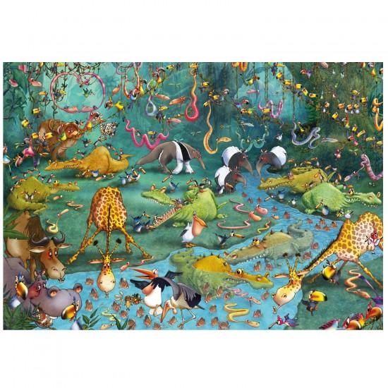Puzzle d'art en bois 100 pièces Michèle Wilson - Ruyer : Crocos et Compagnie - PMW-W445-100