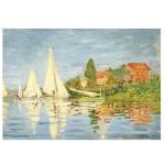 Puzzle d'art en bois 50 pièces Michèle Wilson - Monet : Régates à Argenteuil