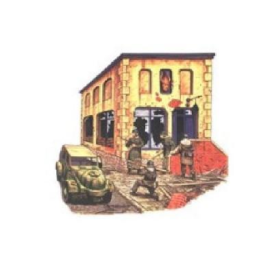 Diorama 1/72: Ruine Mairie allemande avec bar - R2-2013721