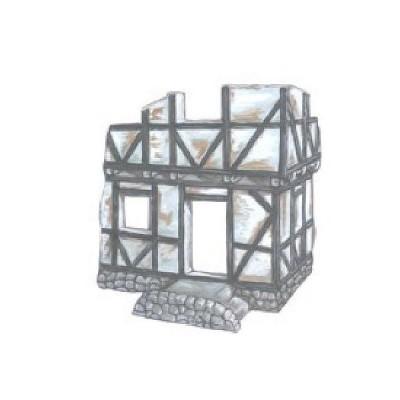 Diorama 1/72: Maison à colombage allemande en ruine - R2-2013704