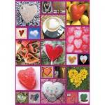 Puzzle 1000 pièces - Coeurs