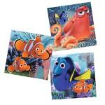 Puzzle 3 x 49 pièces : Le monde de Dory : Dory trouvée