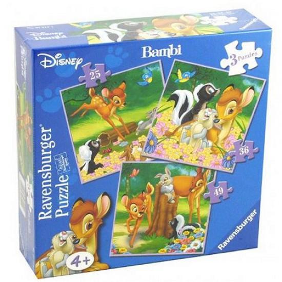 3 puzzles - Bambi - Ravensburger-07210