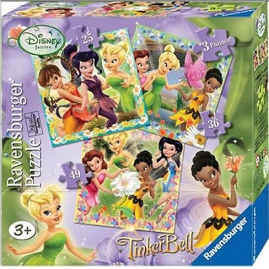 3 puzzles - Disney Fairies - Ravensburger-07193