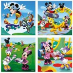 4 puzzles - 25 et 36 pièces : Mickey et ses amis s'amusent
