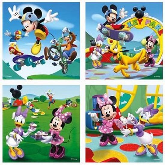4 puzzles - 25 et 36 pièces : Mickey et ses amis s'amusent - Ravensburger-07214