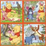 4 puzzles - 25 et 36 pièces : Winnie et les papillons