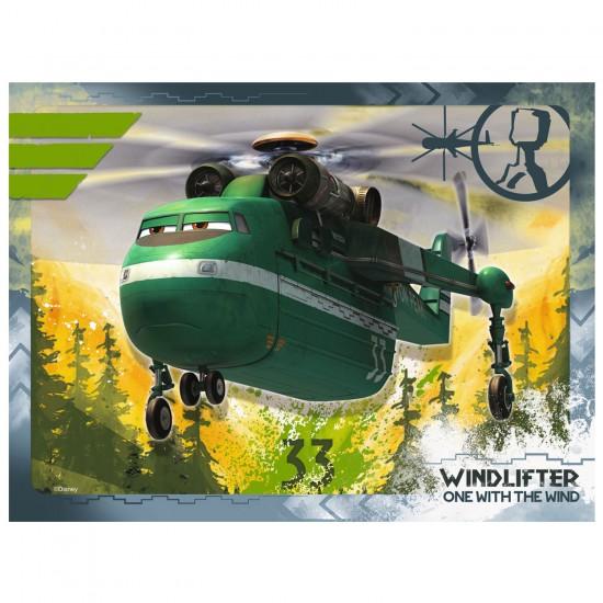 4 puzzles 12 à 24 pièces : Planes 2 - Ravensburger-07357