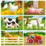 Puzzle cubes - 6 cubes  : Bienvenue à la ferme