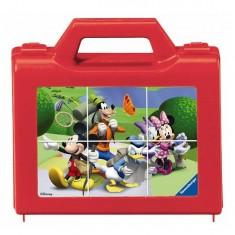 Puzzle 6 cubes : Mickey en vadrouille