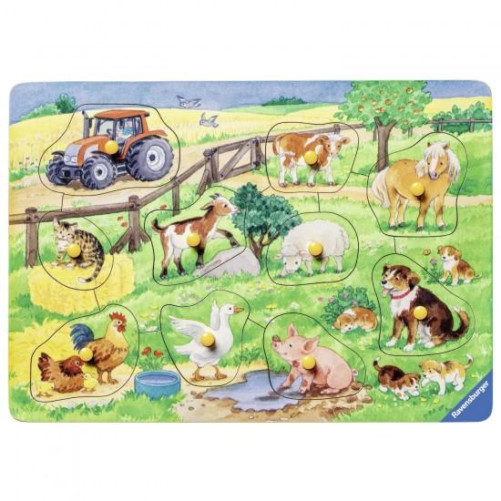 Encastrement 10 pièces en bois : La ferme des jolis animaux - Ravensburger-03673