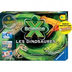 Kit d'expériences Mini Science X : Les dinosaures