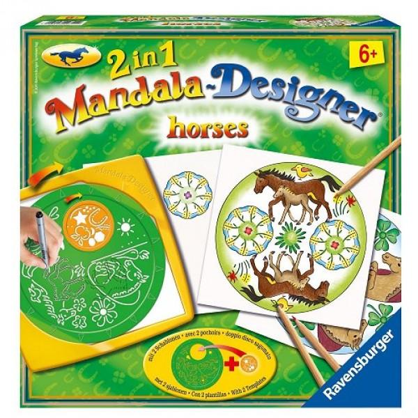 Mandala designer chevaux 2 en 1 jeux et jouets - Mandala de chevaux ...