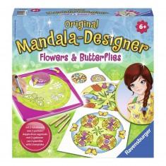Mandala Designer Original : Flowers & Butterflies