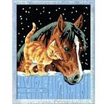 Peinture au numéro Numéro d'Art Classic : Deux amis sous la neige