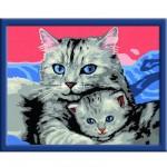 Peinture au numéro Numéro d'Art Classic : Chaton et sa maman