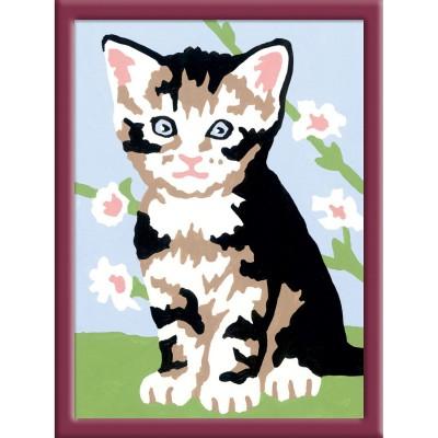 Peinture au numéro : Numéro d'Art Mini format : Chaton gris tigré - Ravensburger-29575