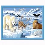 Peinture au numéro : Numéro d'Art Grand Format Classique : Animaux polaires