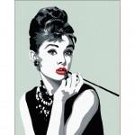 Peinture au numéro : Numéro d'Art Grand Format Classique : Audrey Hepburn