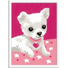 Peinture au numéro : Numéro d'Art Mini format : Petit Chihuahua